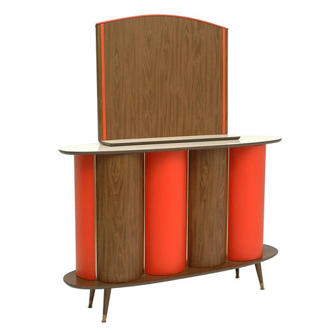 Orange and Wood Panel Bar
