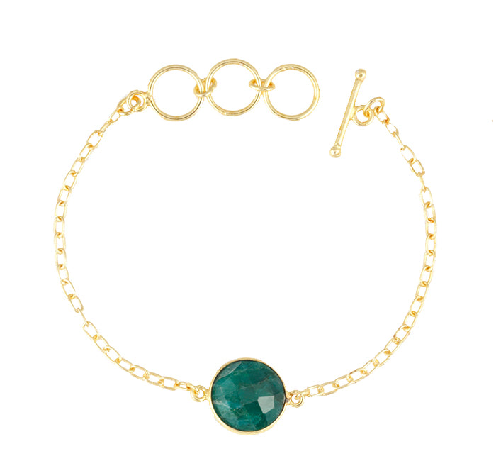 Precious Emerald Single Stone Alchemy Bracelet