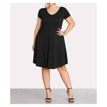 Dress - Black Short Sleeve Casual Shift Basic Plus Size Dress - MBM Unlimited