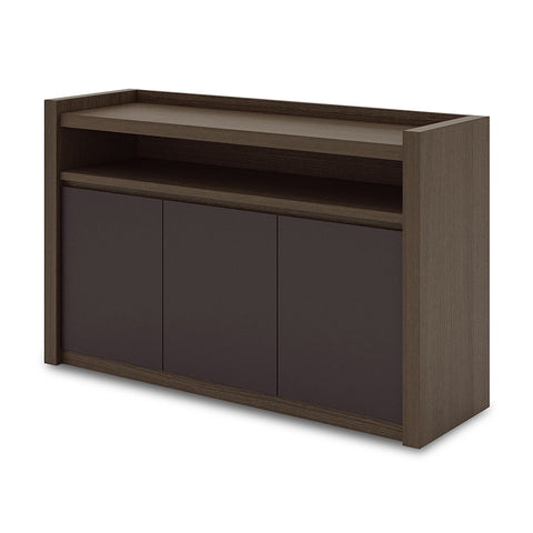 CARTER Sideboard - 1.3M Coffee + Charcoal Grey