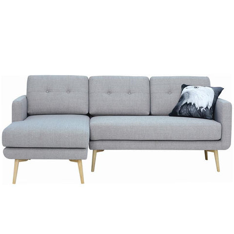 Stream 3 Seater Sofa with Left Chaise - Timberwolf - Royaal Range
