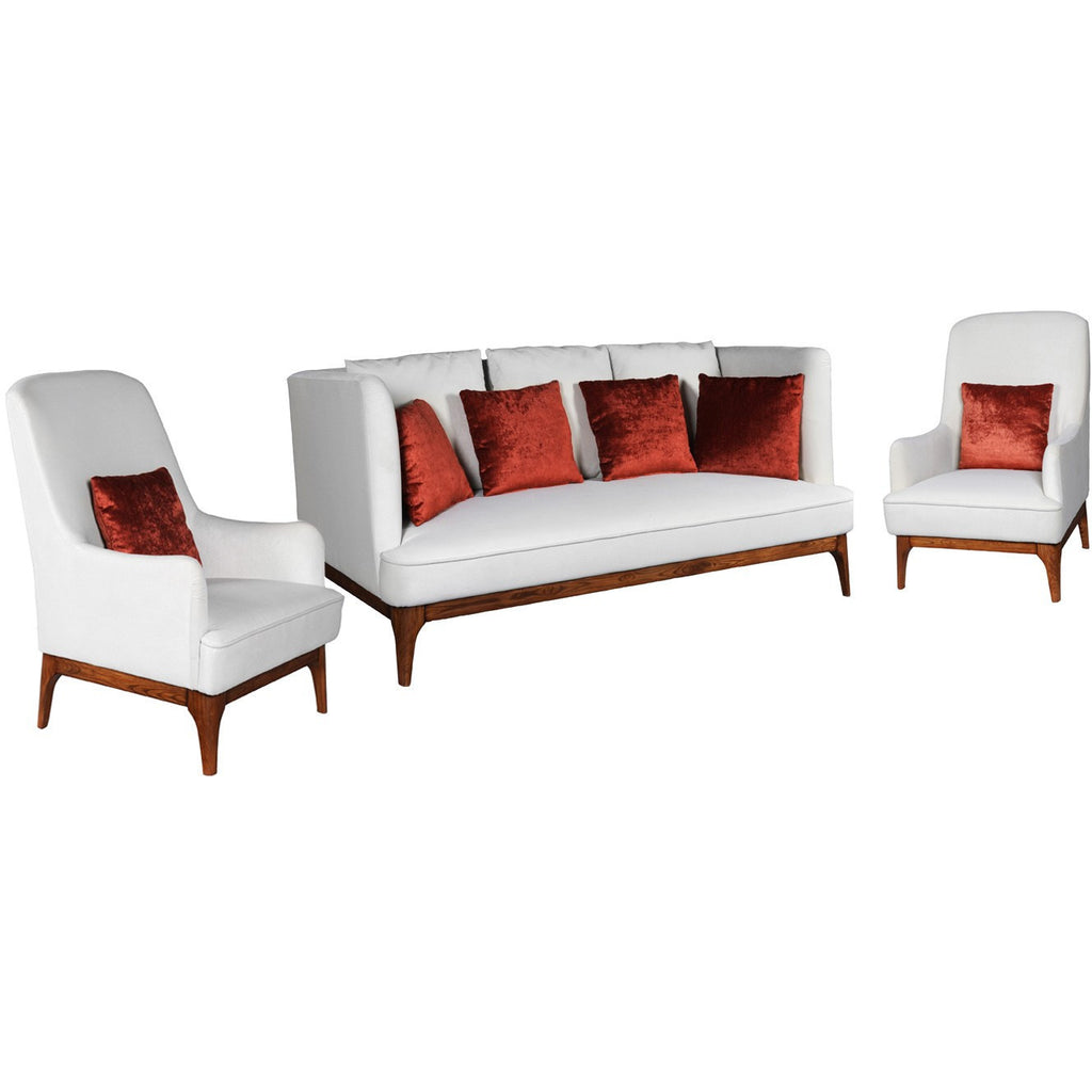 ISA Lounge Suite (3+1+1) Solid Wood