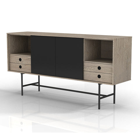 BAYLEN Sideboard - 1.6M Oak/Black