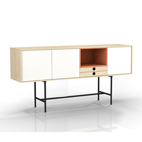 INDIE Sideboard - 1.63M - Maple White & Orange