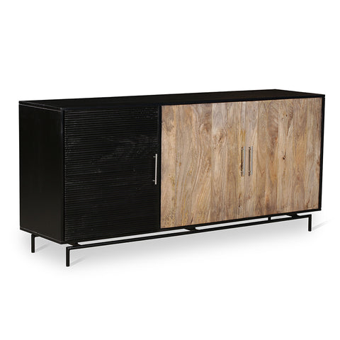ZAYDEN Sideboard 1.8M Solid Mango Wood - Natural/Black