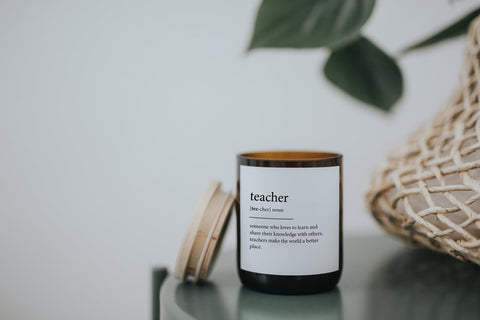 TEACHER DICTIONARY MEANING SOY CANDLE