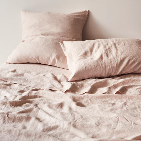 SAGE & CLARE - LINEN EURO PILLOWCASE SET - BLUSH