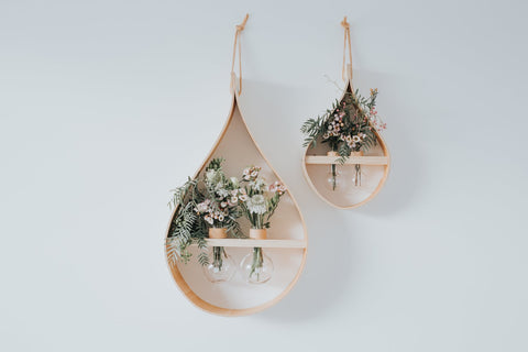 TIMBER TEARDROP DOUBLE ROUND VASE