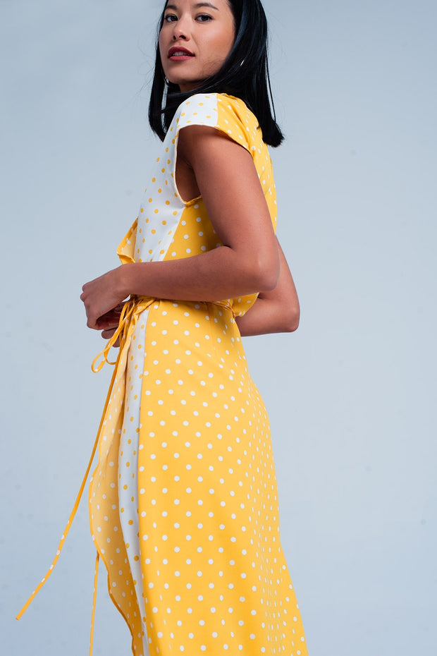 Yellow dress with polka dots