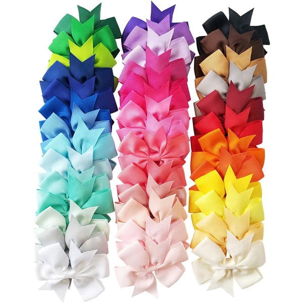 "40 Pc Variety Pack 3"" Grosgrain Hair Bows"