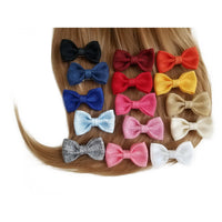 "Yellow 3"" Burlap Hair Bow clips"