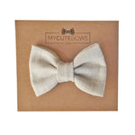 baby hair, hair clip for thin hair, ivory hair bow, hairbow, #hairbow, mycutebows.com, my cute bows, cotton hair bow, vanilla bow, hair accessories, girl birthday gift,