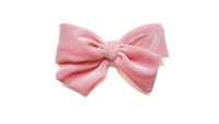 silk white Pinwheel Hairbow Oversize bow, school girl bow, light pink hair Bow, light pink, pink hair bow, peony hair bow, my cute bows , mycutebows.com
