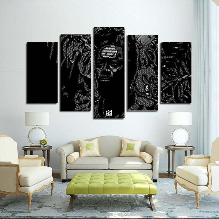 Third World Don™ 5 Panels Canvas Prints Wall Art for Wall Decorations