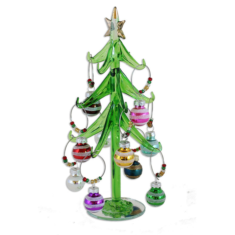 festive tree and ornament whie charms