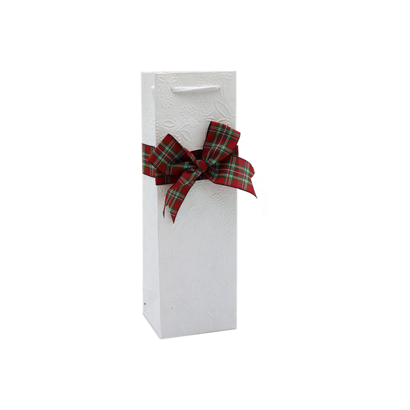 holiday eco friendly bow wine bottle bag