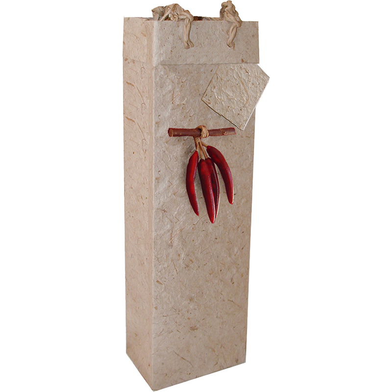 chili pepper wine bottle bag