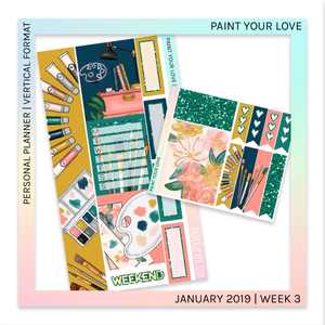 VERTICAL PLANNER STICKER KIT | Paint Your Love