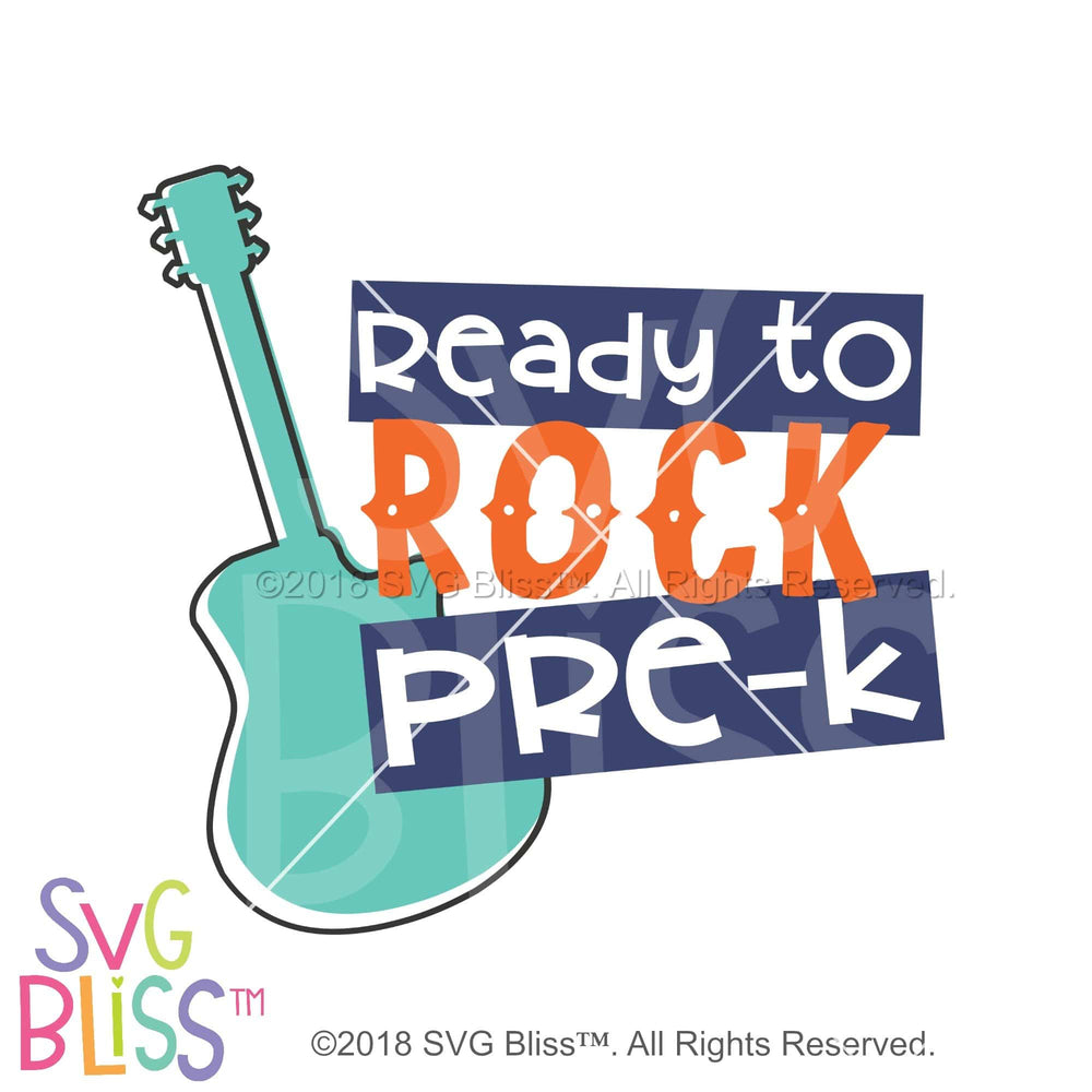 Ready to Rock PreK SVG DXF JPG