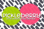 Pickleberry: Handwritten Font - SVG Bliss