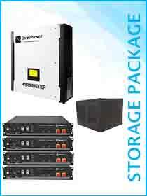 Omnipower Plus 5kW Hybrid / Pylon 9.6kWh Package Including Cabinet