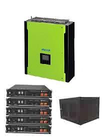 Mecer Plus 5kW Hybrid / Pylon 12kWh Package Including Cabinet