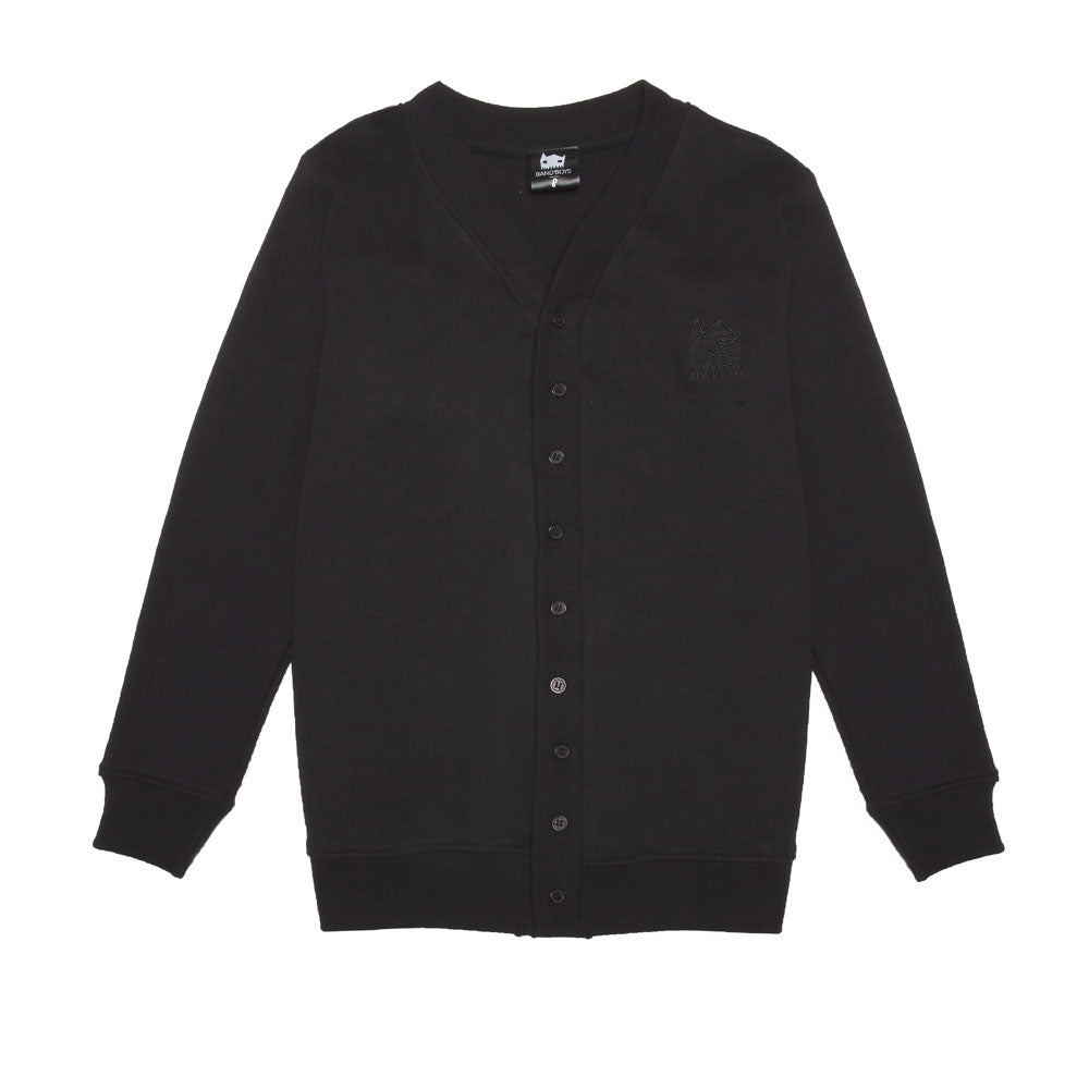 Organic Band Of Spray Kids Cardigan