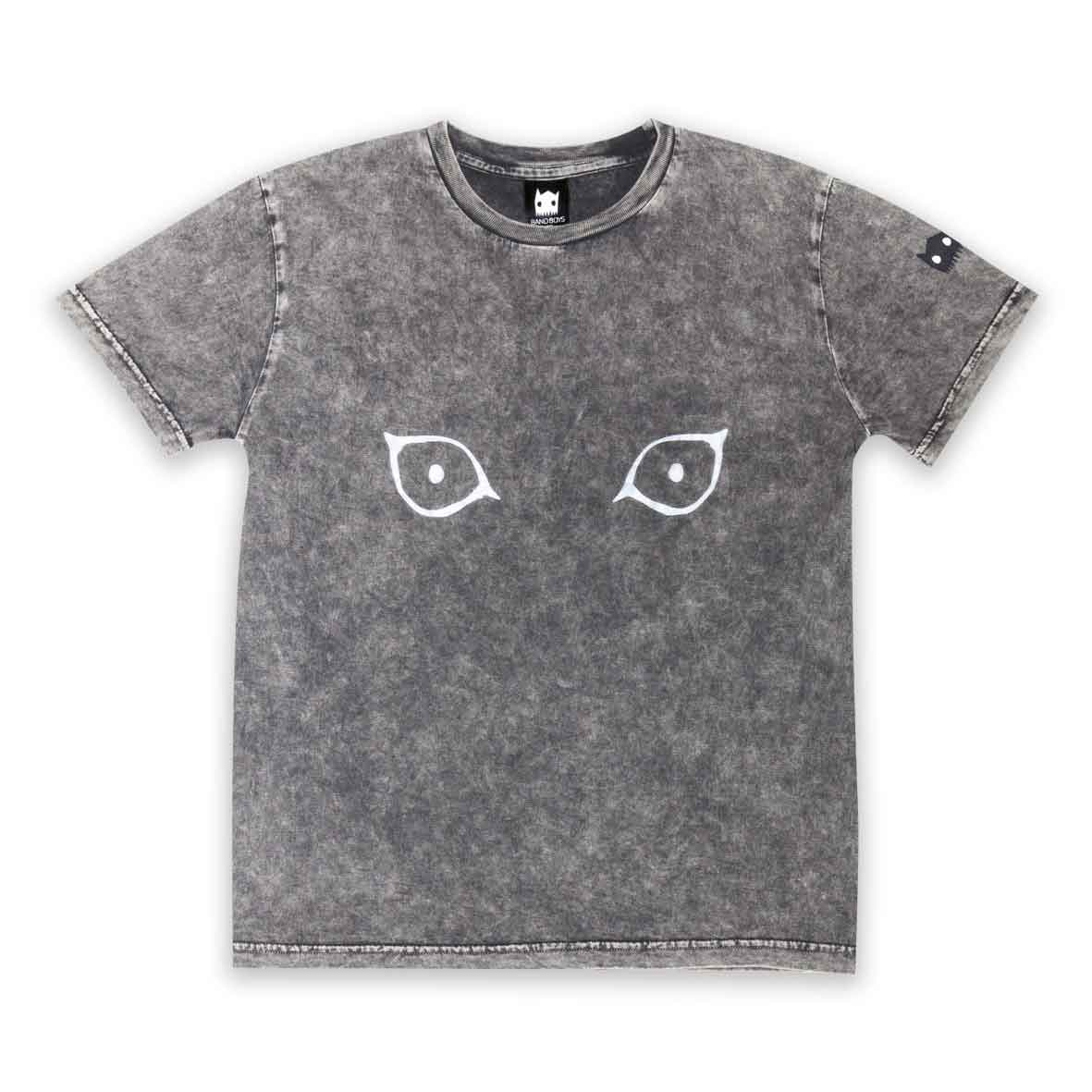 Cat Eyes Tee Washed Black