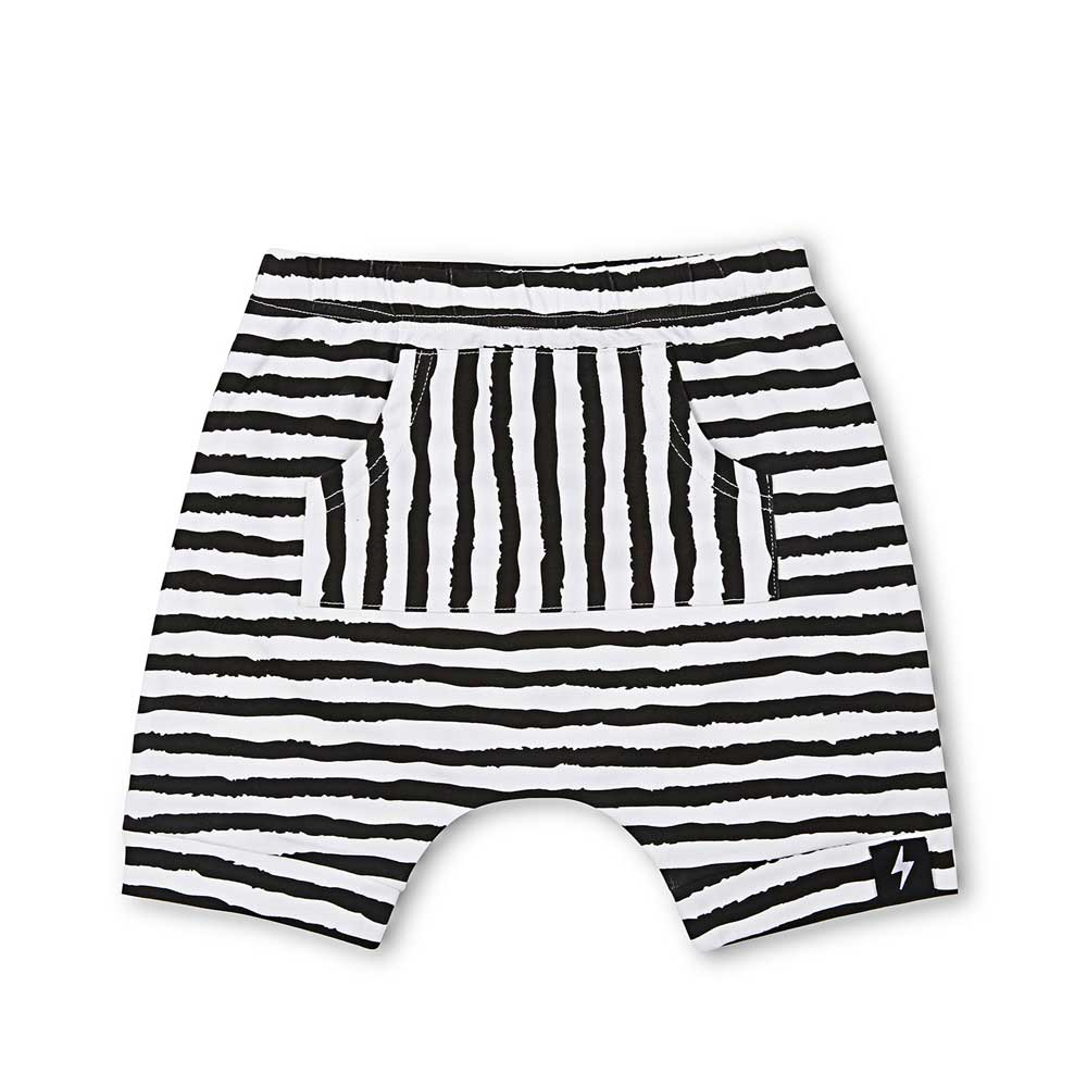 Brushed Lines Pocket Harem Shorts