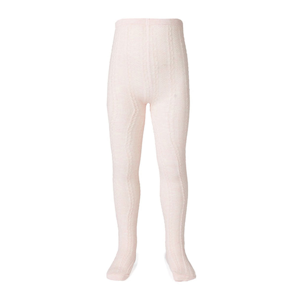 Jacquard Tights Pink Marle