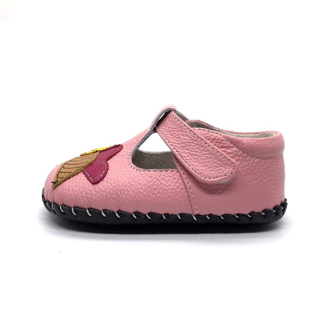 Busy Bee Baby Shoe Pink