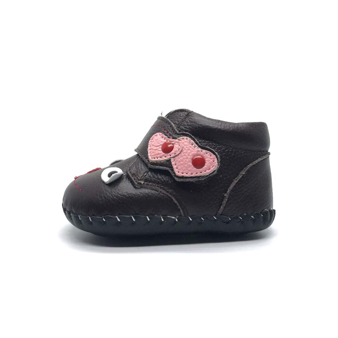 Cheeky Face Baby Boot Brown