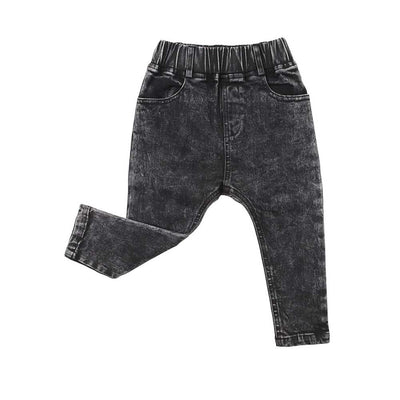 Stretch Denim Jeggings Black Acid
