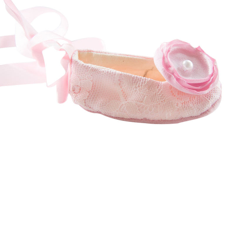 Pink Lace Baby Shoe