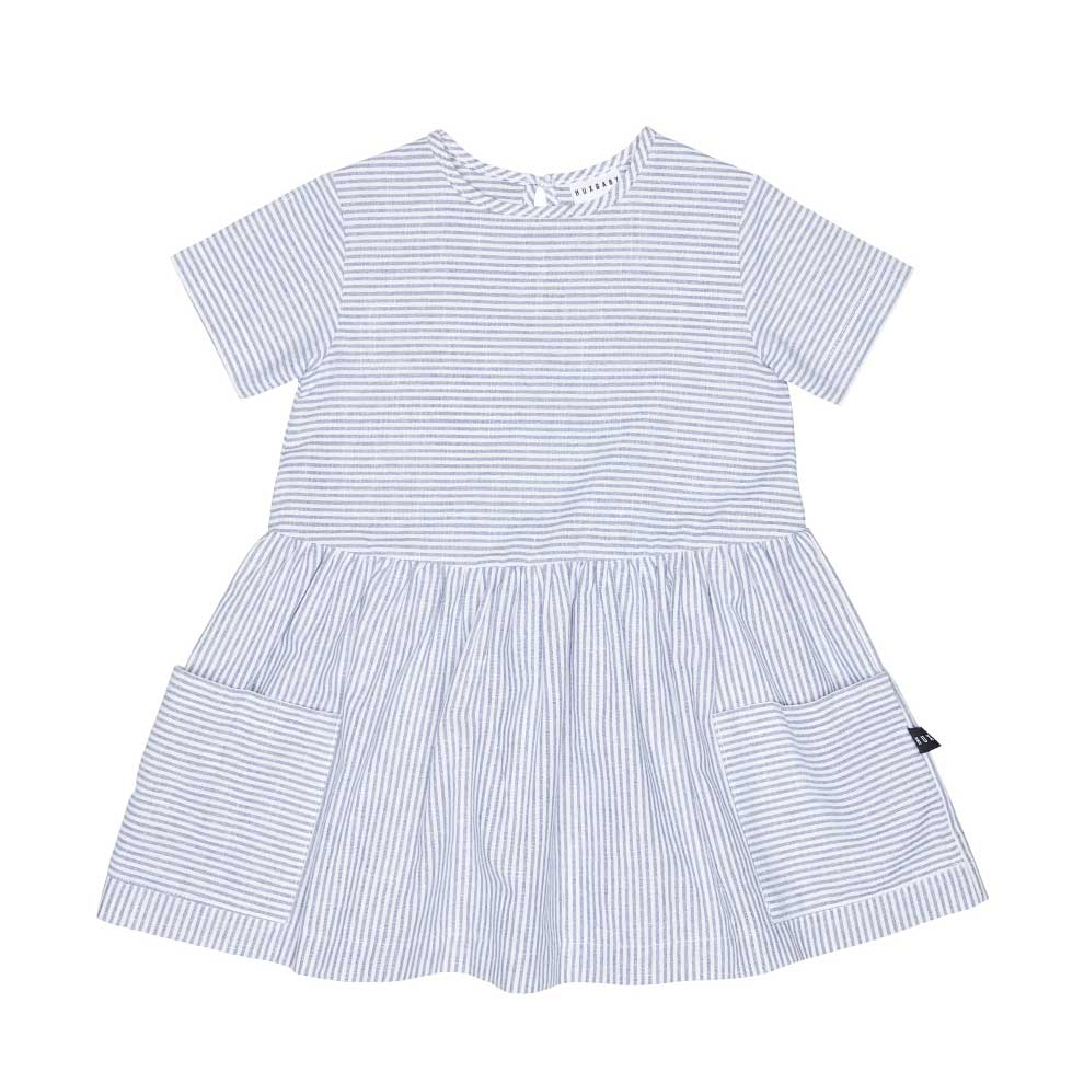 Stripe Darcey Dress Navy + White