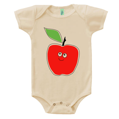 Bugged Out apple short sleeve baby onesie