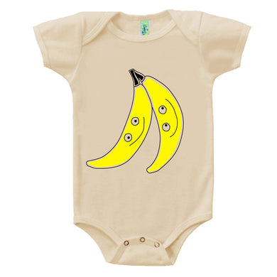 Bugged Out banana short sleeve baby onesie