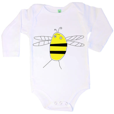 Bugged Out bumblebee long sleeve baby onesie
