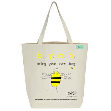 Bugged Out bumblebee tote bag