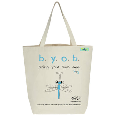 Bugged Out dragonfly tote bag