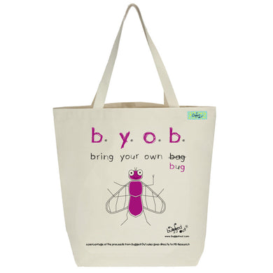 Bugged Out fly tote bag