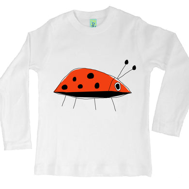 Bugged Out ladybug long sleeve kids t-shirt