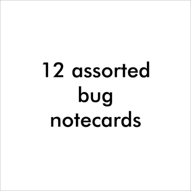 Bugged Out assorted bug note cards