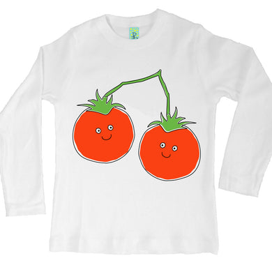 Bugged Out tomato long sleeve kids t-shirt