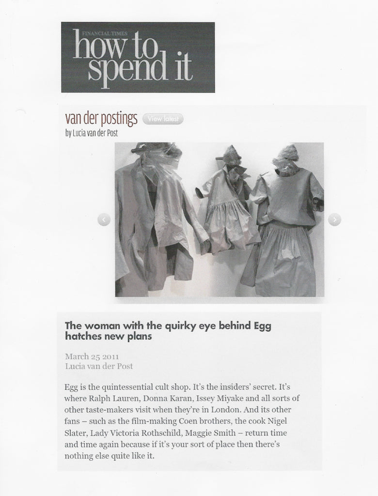 The Financial Times, How to spent it March 2011