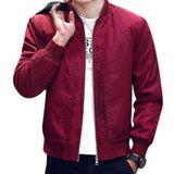 Spring Men's Jackets Solid Coats Male Casual Slim Stand Collar Bomber Jacket Men Overcoat Outwear
