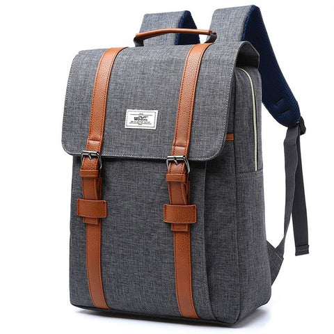 Vintage Men Women Canvas Backpacks School Bags for Teenagers Boys Girls Large Capacity Laptop Backpack