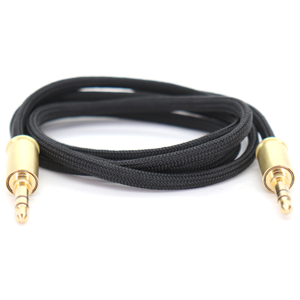 Double Tap Auxiliary Cable - Pitch Black