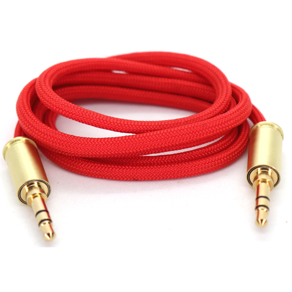 Double Tap Auxiliary Cable - Blood Red