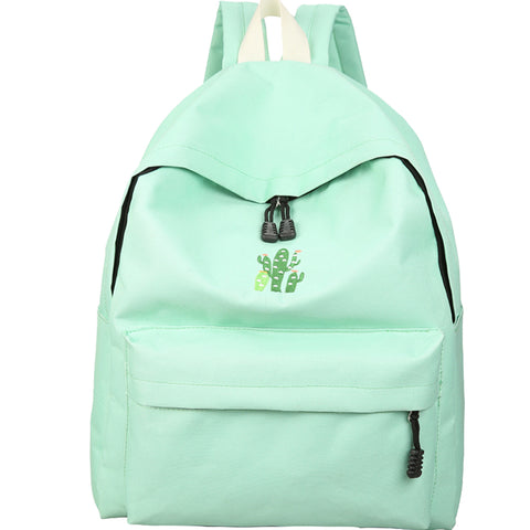 Cactus Embroidered Backpack